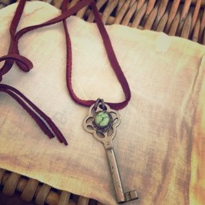 Sterling Key with turquoise